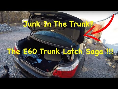 How To Fix A Bmw E60 Trunk That Will Not Open Broken Trunk Latch Fix Youtube