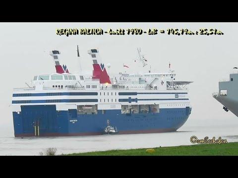 REGINA BALTICA YLBP IMO 7827225 Emden seaship offshore hotel Windpark Wohnschiff seabound with tugs