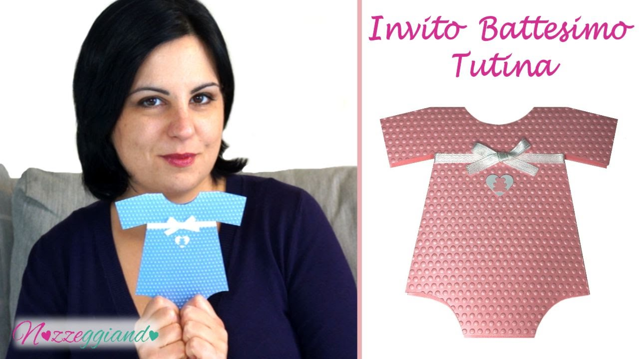 Top TUTINA BODY - Invito Battesimo Fai da te - Tutorial | Nozzeggiando  AG04