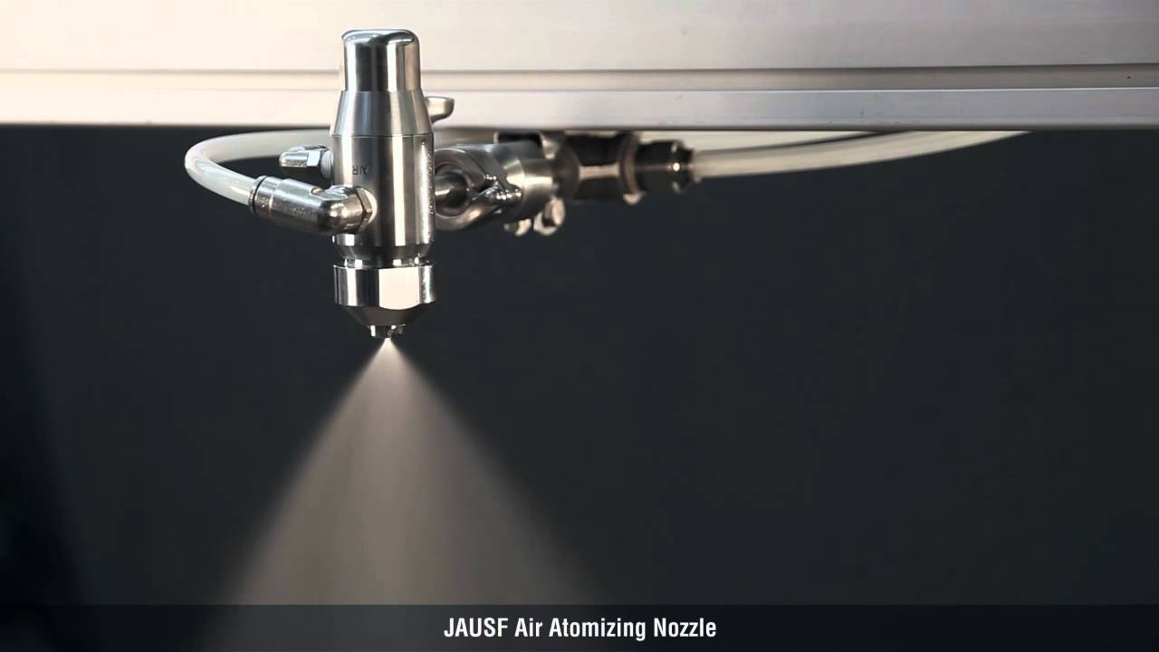 Spray Demonstration Of The Jausf Air Atomizing Nozzle From