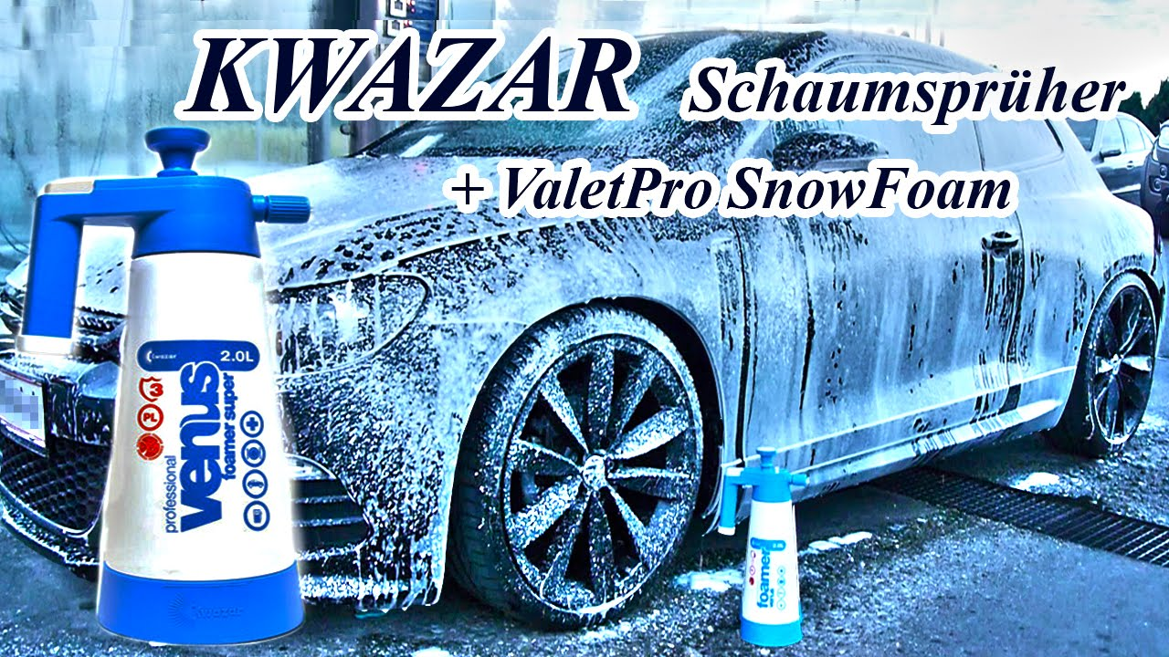 kwazar schaumspr her venus super foamer valetpro snow foam scirocco youtube. Black Bedroom Furniture Sets. Home Design Ideas