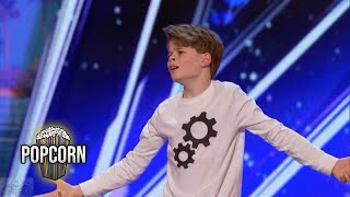 America's Got Talent 2017 Merrick Hanna 12 Year Old's Captivating Dance Performance Full Audition S