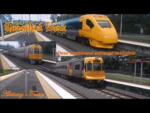 Queensland Trains Three northbound expresses at Virginia