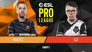 CS:GO - Fnatic vs. G2 Esports [Nuke] Map 1 - Group C - ESL Pro League Season 9 Europe