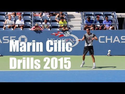 Marin Cilic Drills - Defending Champion US Open 2015 - Drills - Training Day