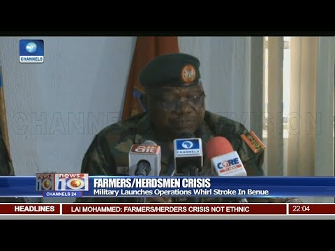 Military Launches Operations Whirl Stroke In Benue Pt 1 | News@10 |