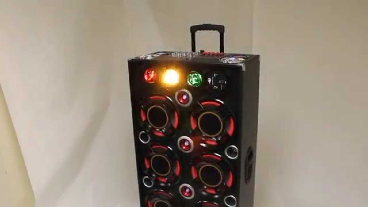 Portable Dj Speaker Systems With Party Lights Model Sp