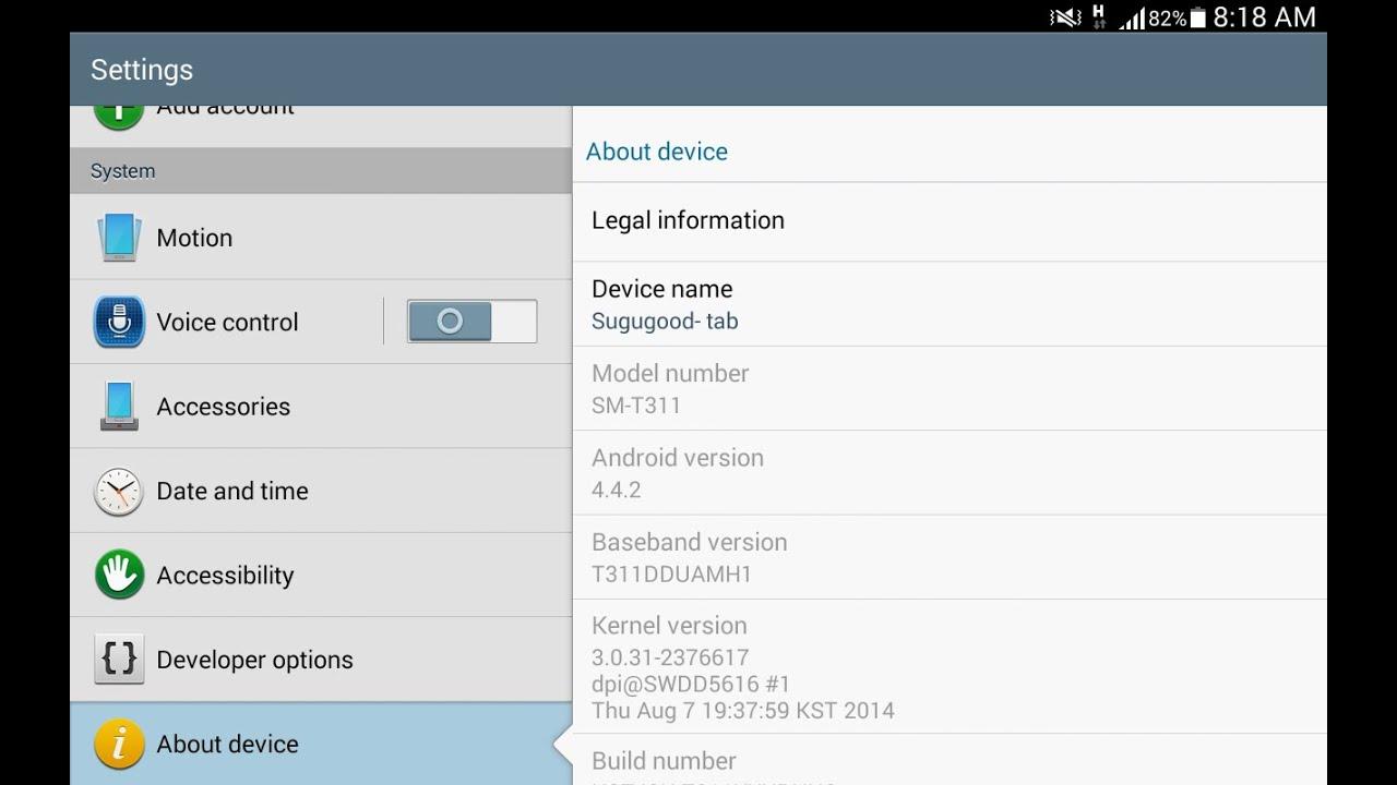 Samsung Galaxy Tab 3 8 0 Sm T311 Android 4 4 2 Kitkat Updating