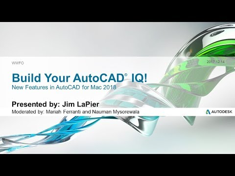 Webinar: New features in AutoCAD for Mac 2018