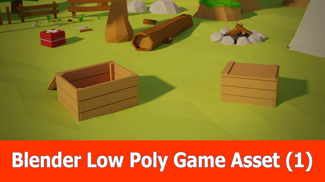 Blender Low Poly Game Asset for Unity