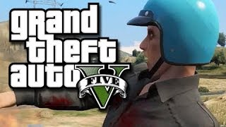 GTA 5 Online Funny Gameplay Moments! #15 (King of the Wind Turbine and Sidearm's Face!)
