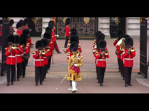 Changing The Queen's Guard - Grenadier Guards Band + Corps of Drums - 10 June 2015