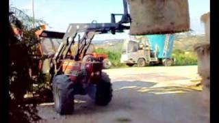 Fiat Agri 110-90 + Forca + Rimorchio