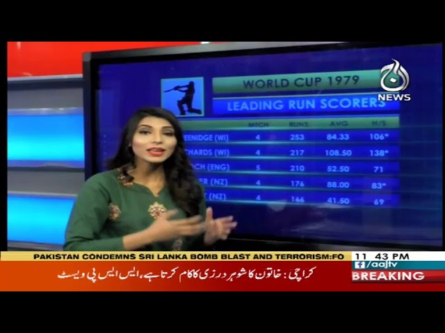 World Cup Stories 1975- 2019 | 21 April 2019 | Aaj News