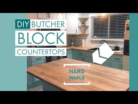 Homemade Butcher Block Countertops!