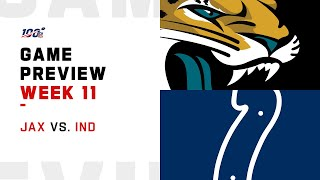 Jacksonville Jaguars vs Indianapolis Colts Week 11 NFL Game Preview
