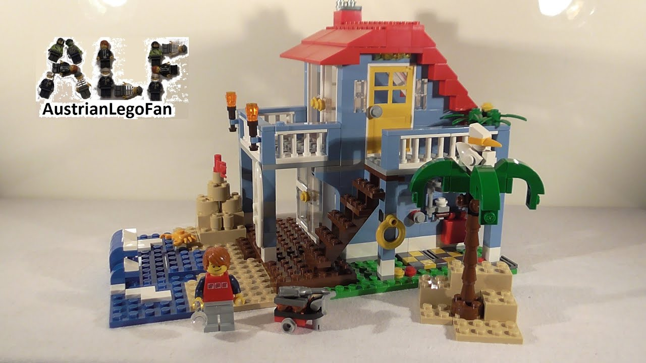 Lego Creator 7346 Seaside House / Strandhaus - Lego Speed Build Review -  YouTube