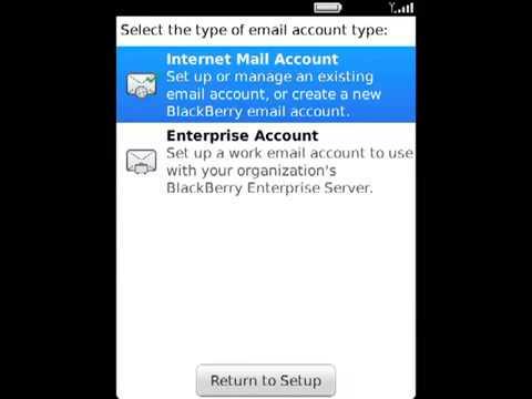 Cấu hình email account cho chiếc BlackBerry của bạn.FLV
