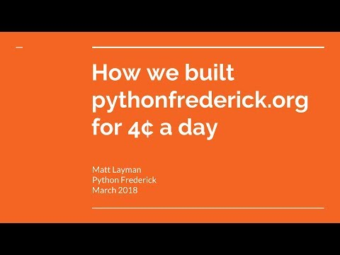 Image from How we built pythonfrederick.org for 4¢ a day