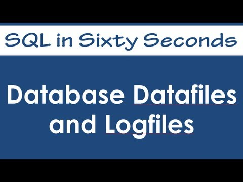 SQL SERVER - SQL Basics Video: Database Datafiles and Logfiles - SQL in Sixty Seconds #063 hqdefault