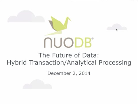 Webinar: HTAP and The Future of Data