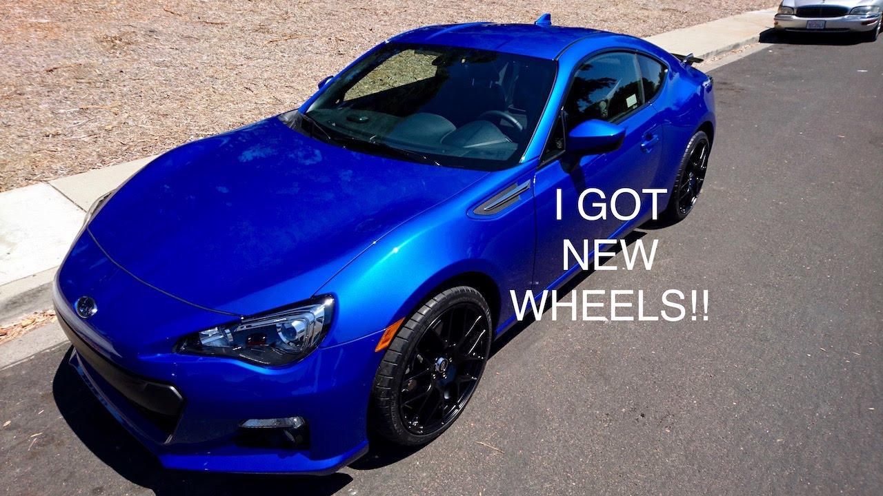 New Wheels on my Subaru BRZ! - YouTube