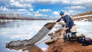 РЫБАЛКА 2021 Фидер ВЕСНОИ на реке ПОИСК ТОЧКИ ЛОВЛИ Наловили за 2 часа Feeder Fishing TV 4K