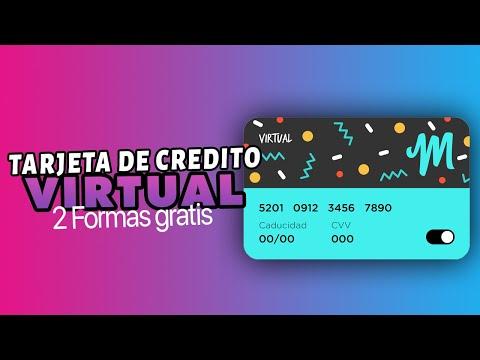 ✅ 2 Formas de Como Crear TARJETA De CREDITO VIRTUAL VALIDAS | Con DINERO RECARGABLE