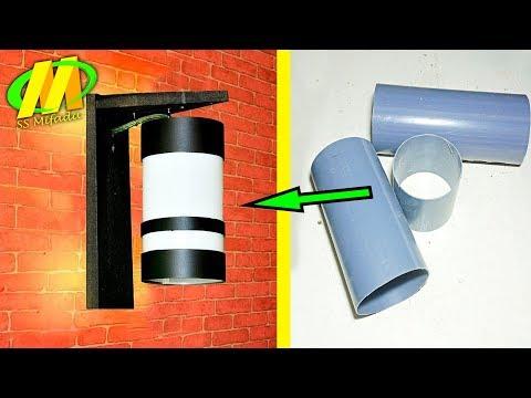 LAMPU dinding dari pipa air/pipa pvc