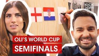 World Cup 2018 Predictions Show   Semifinals:  France vs. Belgium / Croatia vs. England