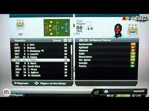 Alineacion y Formacion ideal para jugar al FIFA13  Manchester City