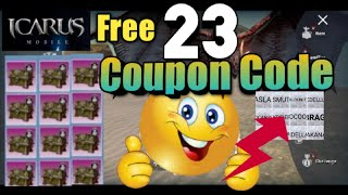 Free Coupon 23 code claim it | Icarus M Rider of Icarus | New MMORPG Mobile Global