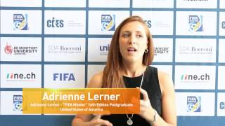 Adrienne Lerner, FIFA Master 16th Edition Postgraduate