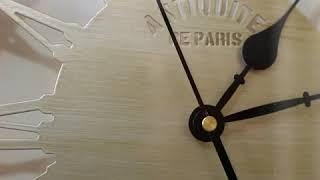 북유럽 엔틱 벽걸이시계 벽시계 저소음 LED 무드등
