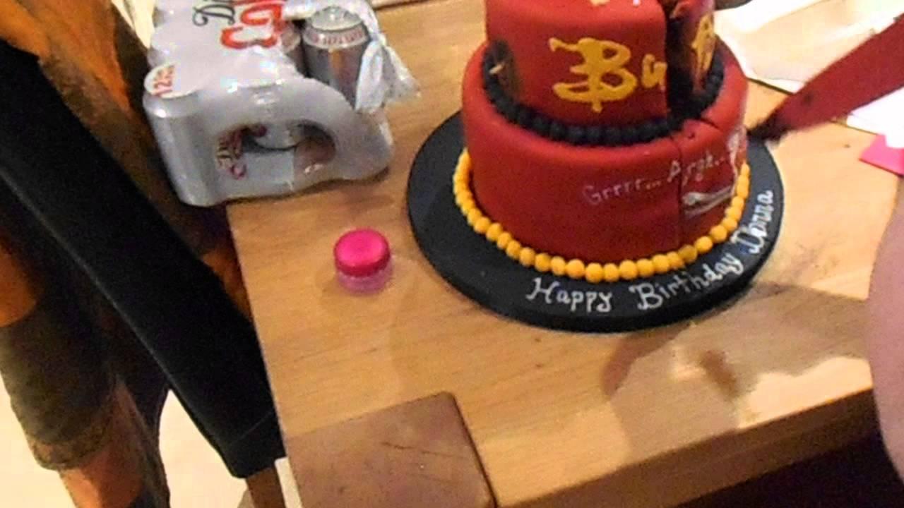 Donnas Awesome Birthday Cake YouTube - Slayer birthday cake