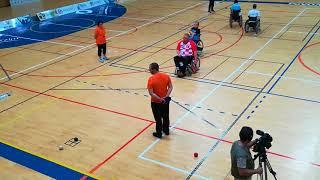 BISFed 2018 Povoa Boccia World Open, Finals, Davor Komar vs Samuel Andrejčik, 1. end