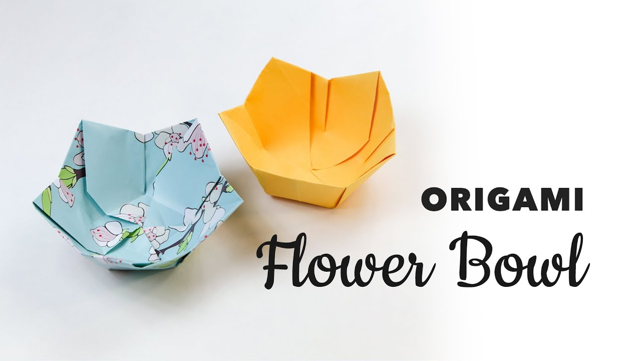 Origami Flower Bowl Tutorial DIY Paper Kawaii