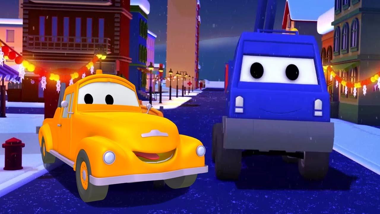 Xe Chở Quả Anh đào Và Tom - Chiếc xe tải kéo | Phim hoạt hình chủ đề xe hơi và xe tải xây dựng