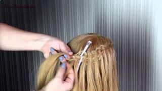 видео Свадебные прически с косой