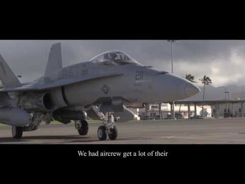 VMFA-115 Trains in MCAS Kaneohe Bay with music and captions