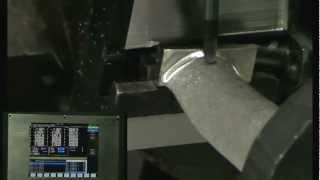 Обмер лопатки двигателя лазером и её обработка