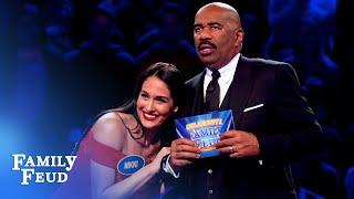 The Bellas' BRUTAL Fast Money... | Celebrity Family Feud