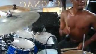 Erneil (WCK drummer) drumming to Hold Dem