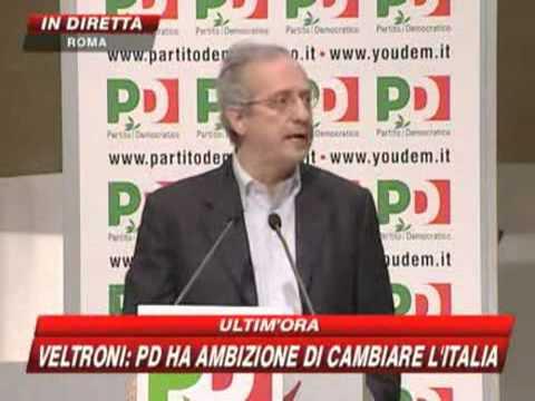 Veltroni, discorso d'addio: «Me ne vado per salvare il Pd»