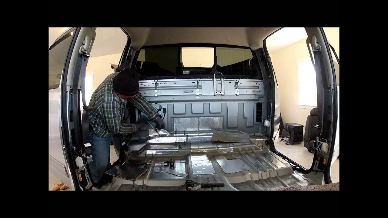 Intalling sound deadening in the cab of a 2012 Chevy crew ...