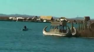 Озеро Титикака,жизнь  племен Урос и Аймара на плавучих островах