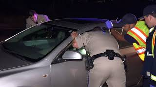 Driver passed out behind the wheel - California Highway Patrol - Interstate 805 off-ramp