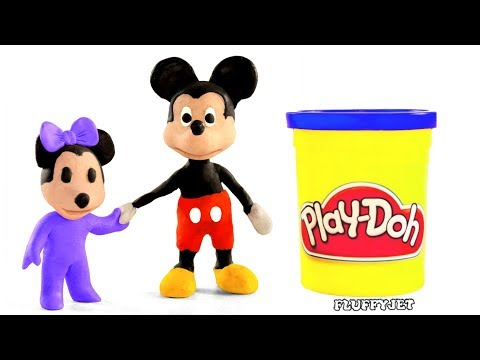 Mickey Mouse Stop Motion Play Doh plastilina claymation
