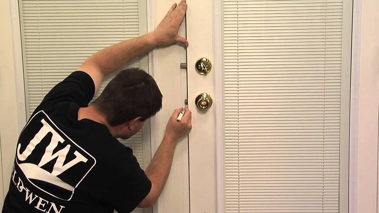 How To Align The Strike Plates On A Double Entry Door System Youtube