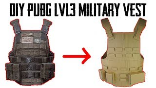 How To Make PUBG Level 3 Military Vest From Cardboard | DIY By King OF Crafts